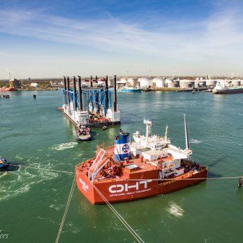 Offshore heavy transport lost lading in Calandkanaal